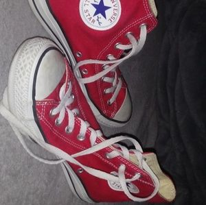 Red High Top Convers